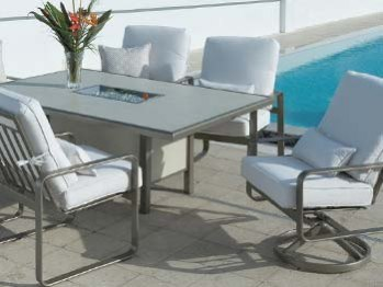 Outdoor By  Design Metro Cushion Patio Dining Set