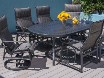 Outdoor by Design Oberon Padded Sling Patio Dining